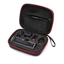 Banco de carga de batería móvil con rueda de controlador/base estuche para almacenamiento portátil bolso con carcasa dura para dji Osmo cámara de bolsillo
