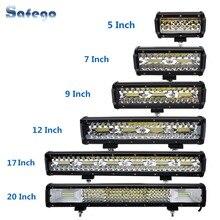 Safego 7 inch 120W offroad led light bar 5 9 12 17 20 inch 84W 240W 360W 384 led Work Light  Car 4WD Truck 4x4 SUV ATV 12V