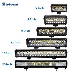 Image 1 - Safego 7 zoll 120W offroad led licht bar 5 9 12 17 20 zoll 84W 240W 360W 384 led Arbeit Licht Auto 4WD Lkw 4x4 SUV ATV 12V