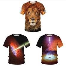 New Black Hole Galax T-shirt Summer Men's Women's Short-sleeved T-shirt Casual Cool 3d Black Hole Short-sleeved Couple T-shirt цена