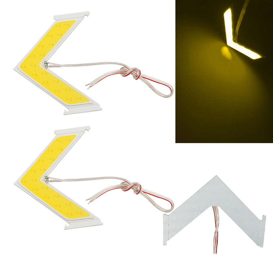 2PCS/Lot LED COB Arrow Panel Car Source Rear View Mirror Indicator Turn Side Signal Safe Light Lamp Free Shipping free shipping 2pcs lot 12v car led front turn signal light bulb for kia rio rio5 06 09 spectra spectra5 07 09 sportage 05 07