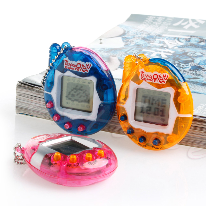 Mini 1Pc 90S Nostalgic 49Pets Virtual Cyber Unisex Pet Game Child Toy Key Tamagotchi Buckles Nice Christmas Gift ...