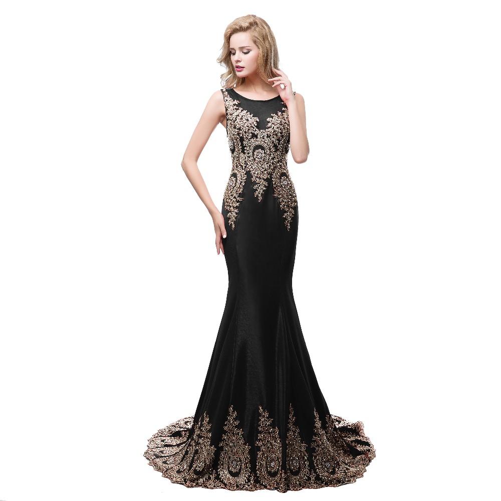 a4a7ab432e35 Scoop Scollatura Prom Dresses Sirena per le Donne Anziane Sheer ...