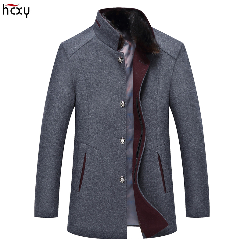 HCXY Jackets Coat Winter Casual Mens New Warm And Wool Outerwear Parkas Slim-Fit Size-M-3xl