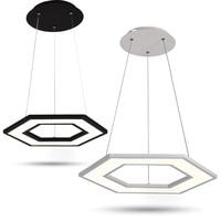 Новый многоугольный Подвесные лампы для офиса Ресторан hanglamp светильник suspendu современный простой офис конференц зал DIY подвесной