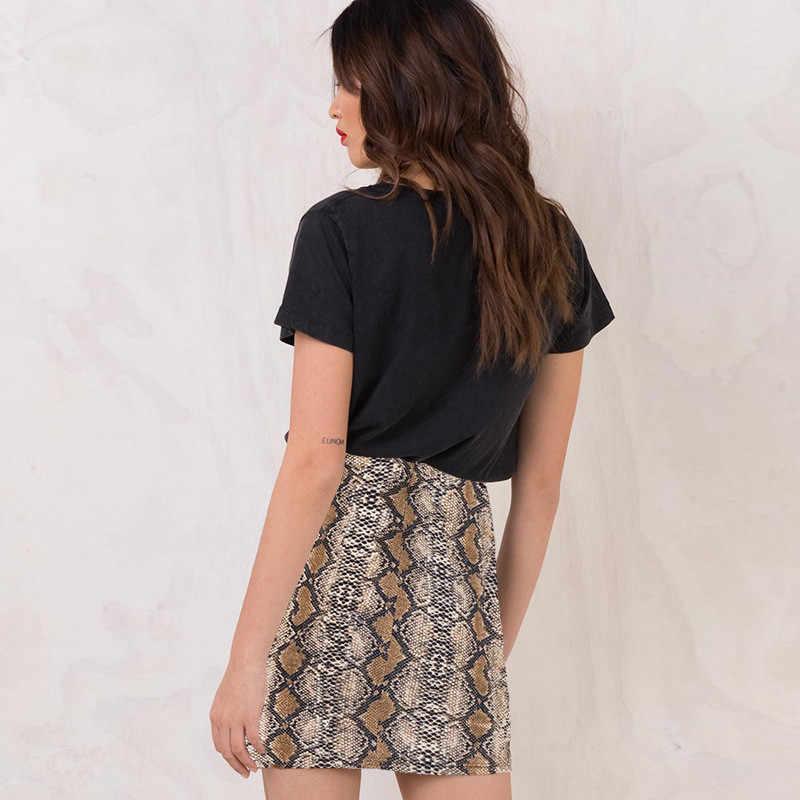 b6f022a38b1f0 ... Sexy Vogue Women Ladies High Waist Snake Skin Print Pencil Skirt Bodycon  Stretch Leather Clubwear Short ...