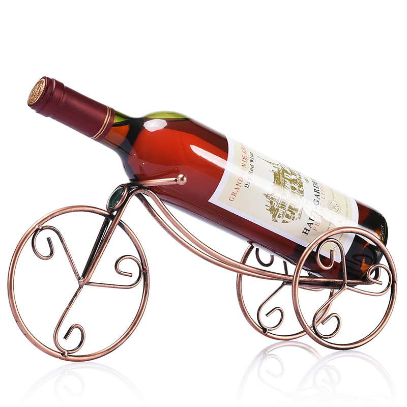 New Pattern Modern Rose Golden Vehicle Shape Electroplate Iron Integral Type Red Wine Rack Two Type for Choose