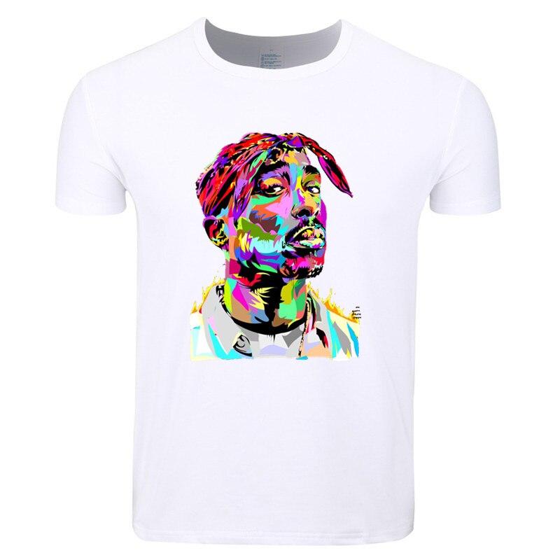 Asiatique Taille Imprimer Tupac 2pac Rappeur Rap Hip Hop BUTIN T-shirt O-cou À Manches Courtes T-shirt D'été Pour Hommes Et Femmes HCP287