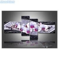 Diamond Mosaic DIY 5D Diamond Embroidery Cross Stitch Diamond Painting Home Decorative Gifts Fashion Flower 4pcs