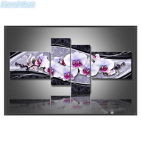 Diamond Mosaic DIY 5D Diamond Embroidery Cross Stitch Diamond Painting Home Decorative Gifts Fashion Flower 4pcs
