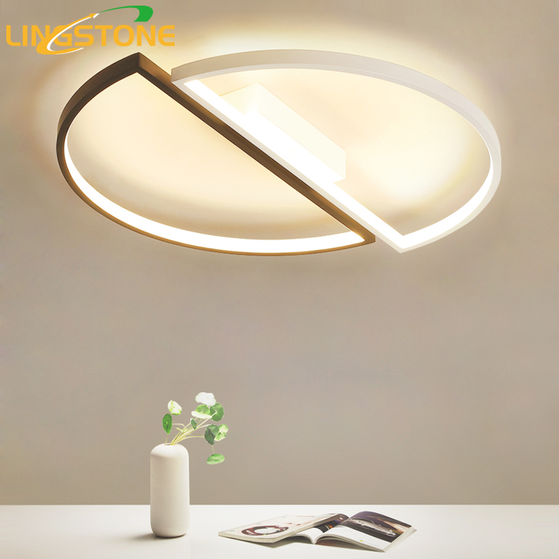 Modern Led Ceiling Lights with Remote Control Ceiling Lamp for Living Room Flush Mount Indoor Lighting Bedroom Kitchen Bathroom