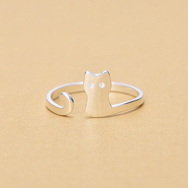 Женское кольцо из серебра 925 пробы с открытым пальцем