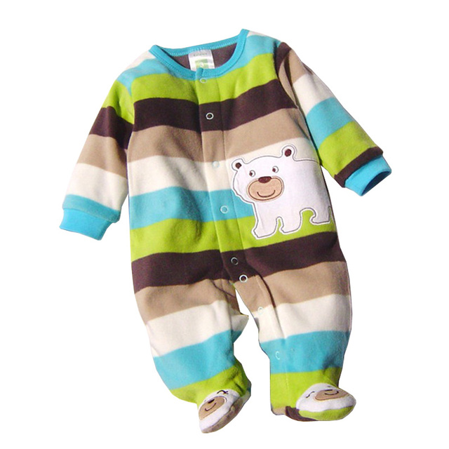 5bfa0bc61c1a New Fashion Polar Fleece Soft Baby Rompers Long Sleeve Baby Boy Girl ...