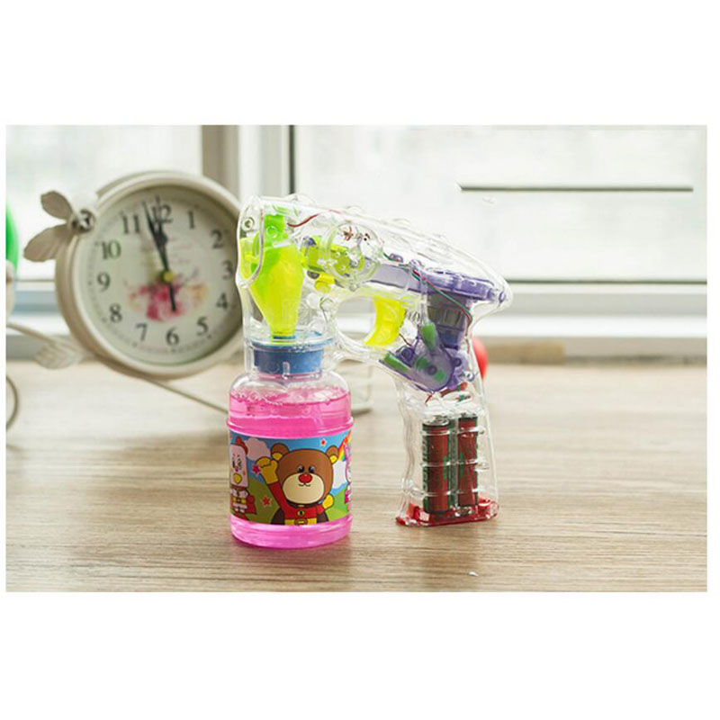 New Coming High-quality Not Easy Leak Automatic Electric Laser Light Bubble Gun Children Toys Blowing Bubble Gun Boys Girls