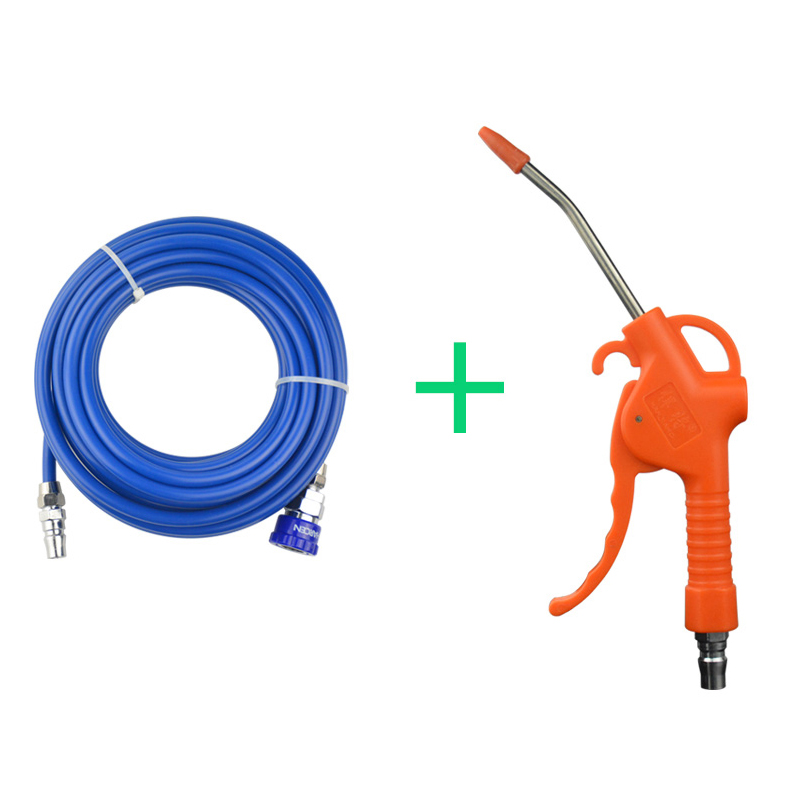 10m PU Tube Plastic Handle Pneumatic Air Blow Gun Kit Air Duster Cleaning Nozzle With Hose
