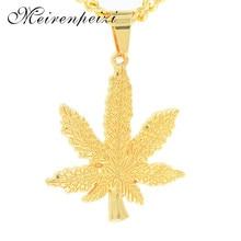 цена на Exquisite hip hop long men's maple leaf necklace alloy pendant jewelry accessories great decoration personality