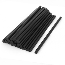 35 Pcs 7mm Diameter 190mm Length Plastic Black Hot Melt Glue Stick