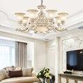 Европейская антикварная люстра  освещение для отеля  гостиной  декоративное освещение  креативная спальня  столовая  стеклянная люстра