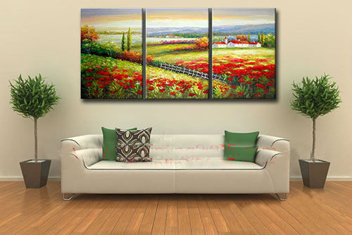 beautiful mediterranean landscape oil painting Hot Selling Modern Home Decoration New Arrival Handmade scenery Oil Painting
