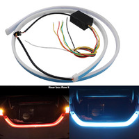 1set Flexible Tube Flow Light Rear Tail Box Lights Streamer Brake Turn Signal LED Lamp Strip