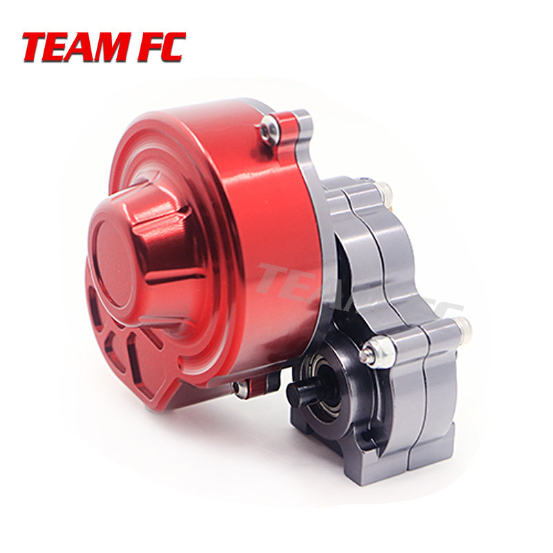 SCX10 hydrulic Transmission Box Full Metal Gearbox / Center Crawler Gear Box Reverse Parts for 1/10 RC Car F138 rm scx 10 d full metal hydraulic transmission box wheel gear wave box gear replace ax 80010 r 4003