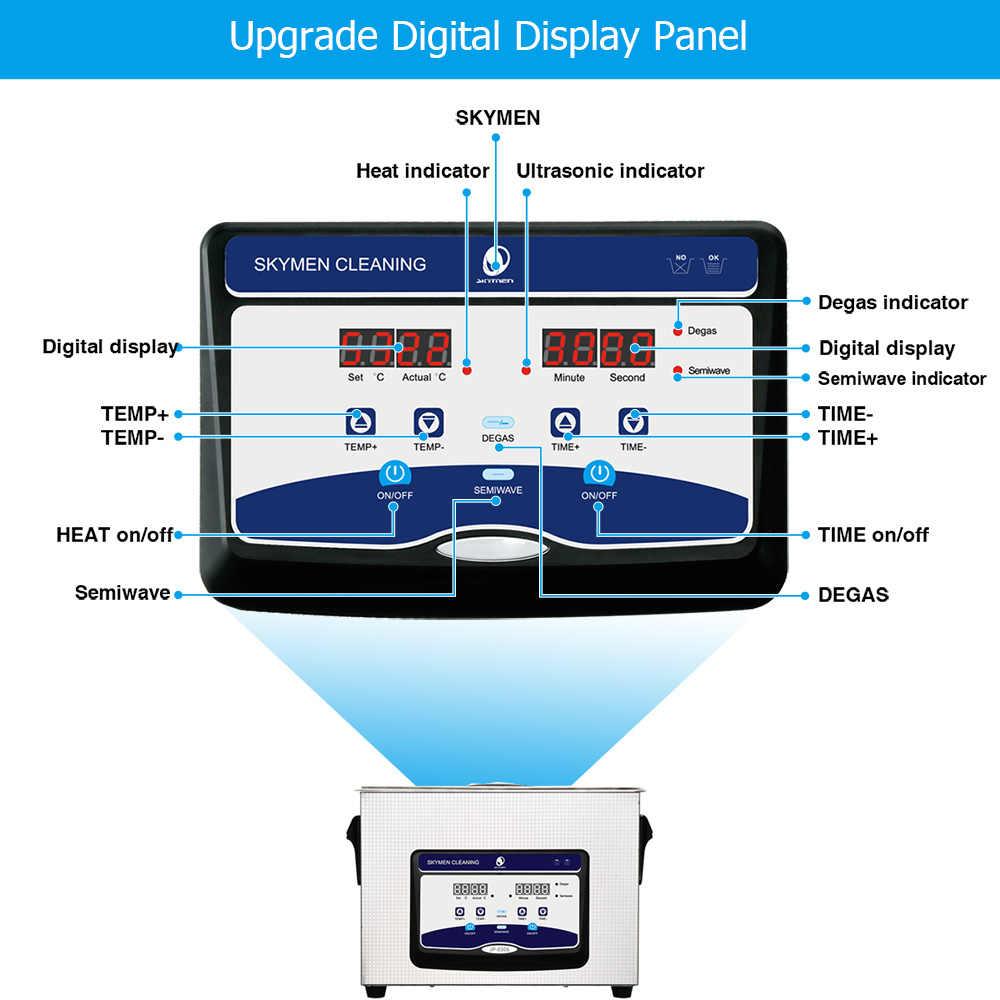 skymen 4 5l digital ultrasonic cleaner bath metal parts cutters pcb engine tools ultrasound bath sonic  [ 1000 x 1000 Pixel ]