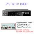 Caliente Ruso Europeo Estándar dvb t2 Receptor Digital de Satélite Combo + S2 HD 1080 P dvb-t2 tv Box H.264/MPEG-2/4/F1171
