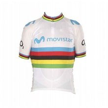 2019 world champion white rainbow honor Alejandro Valverde cycling jersey quick dry racing bike cloth Ropa Ciclismo maillot only