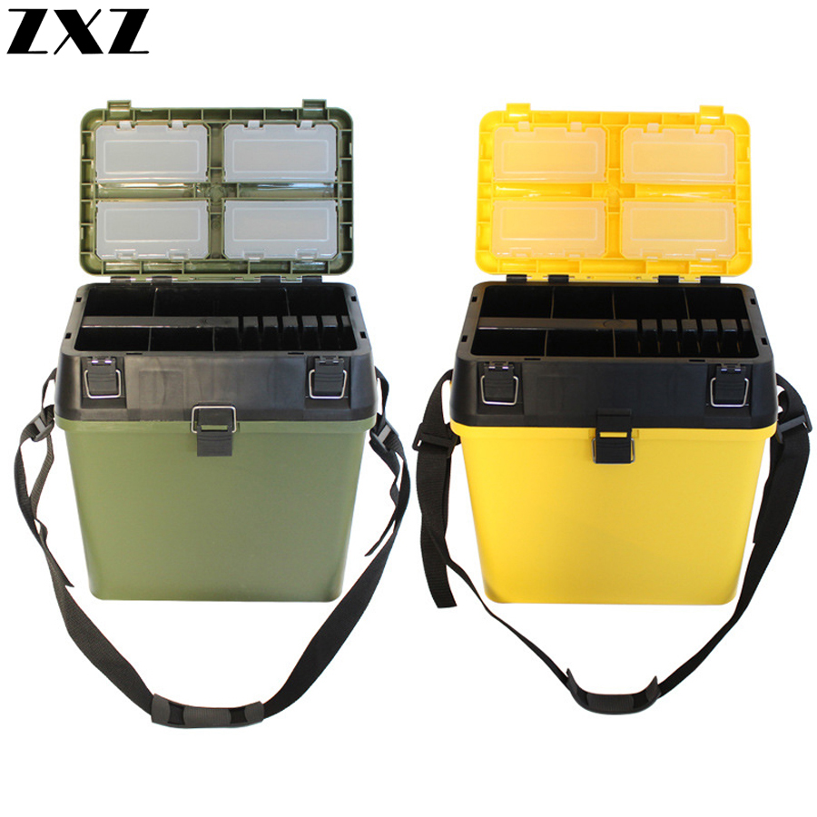 33*20*37 cm peut transporter ou s'asseoir seau de pêche épais boîte à poisson vivant boîte de stockage en boîte leurre appât crochet ligne accessoires matériel