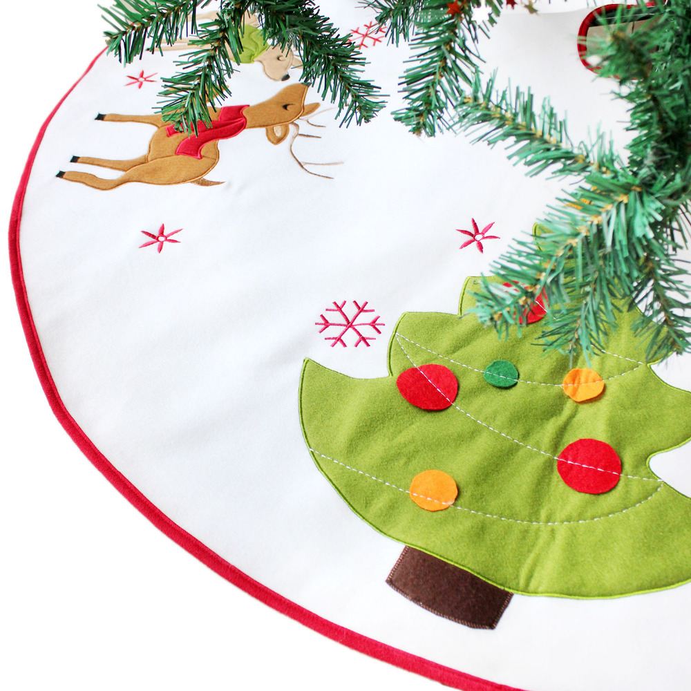 Reindeer applique embroidery Christmas tree applique embroidery ...