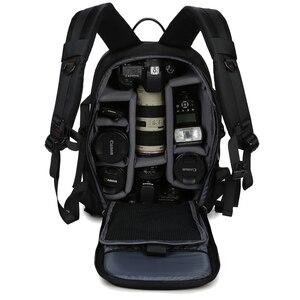 Image 5 - 대용량 방수 사진 카메라/비디오 가방 DSLR 카메라 배낭 카메라 사진 가방 니콘 캐논 Slr 카메라 렌즈