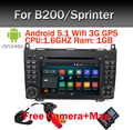 Quad Core 1024*600 2 din автомобильный DVD Android 5.1 для Mercedes/benz B200 W169 A160 Viano Vito GPS NAVI РАДИО BT встроенный wi-fi