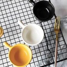Creative ceramic tableware single handle seasoning bowl saucer Japanese style Mini mall cold  sauce
