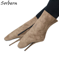 Sorbern Sexy Ankle Boots Ballet High Heels Unisex Plus Size 7 Inch Short Ladies Boots Sm Shoes Ballet High Heels For Women
