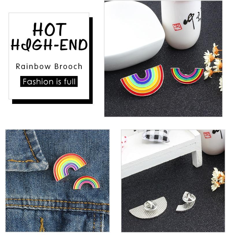 Модные Цветные эмалированные броши на булавке для женщин, мультяшная креативная мини-Радужная металлическая брошь на булавке, Джинсовая Шляпа, значок, воротник, ювелирное изделие