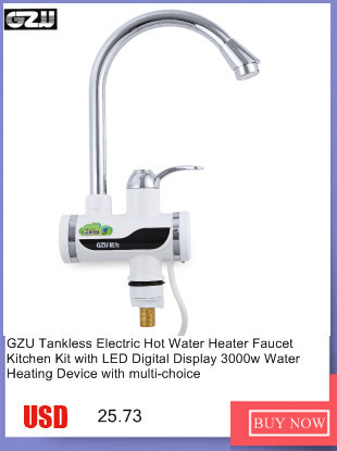 GZU Tankless Electric Hot Water Heater Faucet Kitchen Kit with LED ...