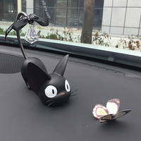 Car Ornaments Cute Cat Butterfly Cartoon Decoration Handmade Resin Cat Figurine Models Craft Toys Auto Home