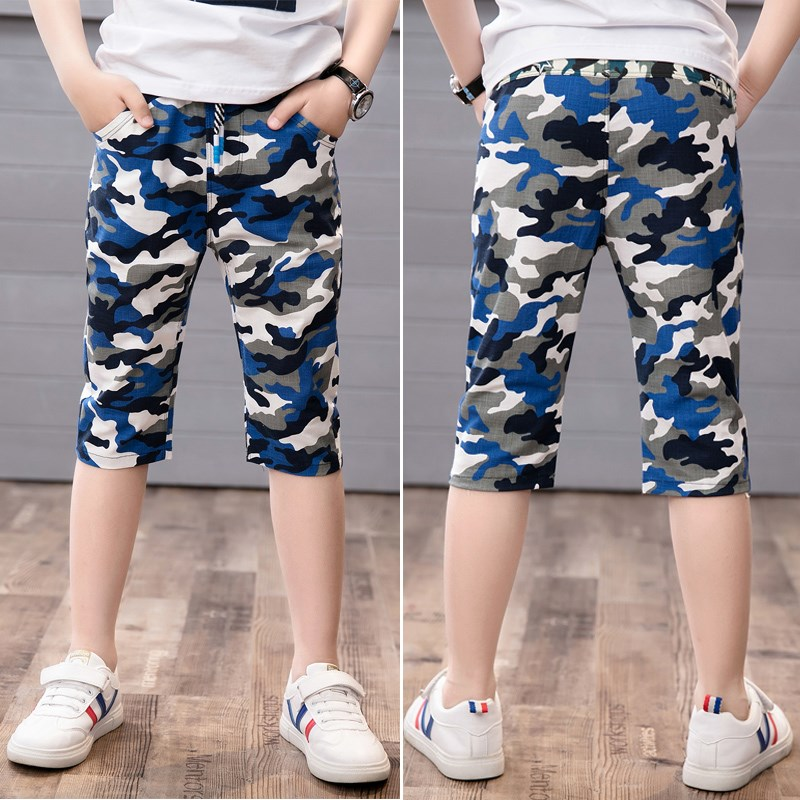 Children's clothing boy pants pants summer summer thin section shorts hot pants beach pants in children casual pants pants FREE