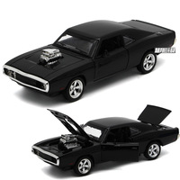 1:32 Window Box Alloy Car Model for Dodge Horse Fast and Furious 7 Super Racing Four Open Door Light Music Children's Toy Car