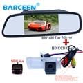 "5 ""luces de coches espejo monitor + ir cámara de vista trasera del coche 2 en 1 uso para Renault Fluence/Dacia Duster/Megane 3/para Nissan Terrano"