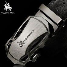 NO. ONEPAUL, роскошный бренд, мужской из натуральной кожи, ремни для мужчин, высокое качество, ремень, автоматическая пряжка, черные, широкие пояса