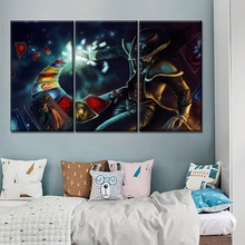 Game Paintings Modern Wall Artwork 3 Panel Modular Type Style On Canvas Print League Of Legends Twisted Fate Painting Home Decor