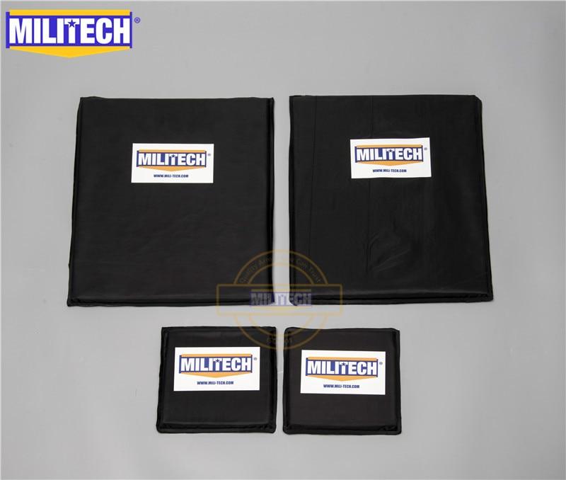 MILITECH Bulletproof Aramid Ballistic Panel Plate Inserts Body Armor Soft Armour NIJ Level IIIA 3A 11 X 14 & 6 X 6 Pairs Set