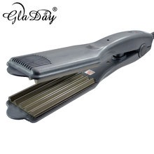 """Gladay Profissional Hair Wave Iron 1.75""""inch Corrugated Curling Irons For Beauty Salon Hair Crimper Iron Crimping Styles"""