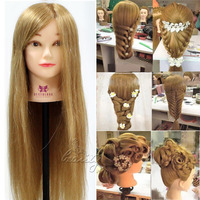 Hairdressing Training Head Mannequin For Cosmetology Schools Salon 26 70 Real Hair Clamp