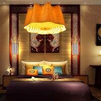SGROW дерево абажур подвесной светильник Юго Восточной Азии Креативный дизайн вручение лампы для Спальня столовая Гостиная Lampara