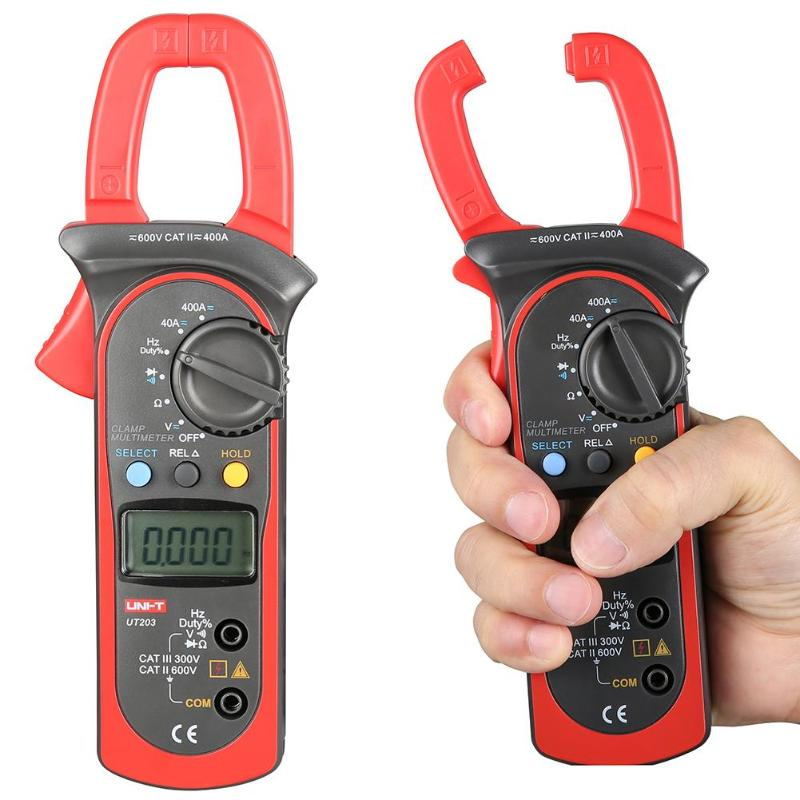 UNI-T Digital Clamp Multimeter UT203 current clamp AC DC 3999 Count 400a voltage Resistance tester LCD Auto-Range clamp meter uni t ut210d auto range digital clamp meter multimeter ac vc current voltage resistance capacitance frequency high quality