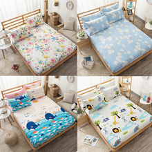 100%Pure Cotton Lovely Cartoon Twin/Full/Queen Size Fitted Sheet Bedsheet Set Shams Kid Child Lion Animal Colorful Floral Flower