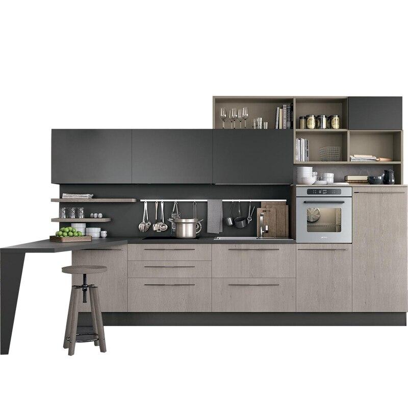 Modern Modular Small Kitchen Cabinet, Modern Kitchen Furniture With Stainless Steel Kicktoe
