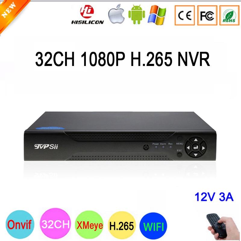 Hi3536C XMeye 8CH * 4 k/25CH * 5MP/32CH * 1080 p Surveillance Vidéo Enregistreur 32CH 32 canal 1080 p IP Onvif WIFI CCTV NVR Livraison Gratuite